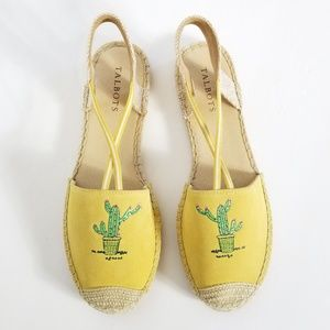 Talbots | Cactus Embroidered Suede Ivy Espadrilles